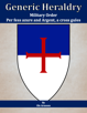 Generic Heraldry: Military Order- Per fess, azure and argent, a cross gules