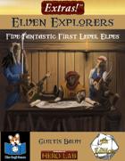 Extras! Elven Explorers 5E (Five 1st Level Elves)