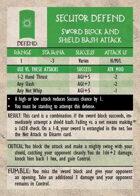 GQR Secutor Sword Block & Shield Bash (replacement card)