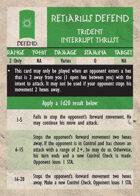 GQR Retiarius Trident Interrupt Thrust (replacement card)