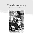 The Elemancer - A Playbook for Dungeon World