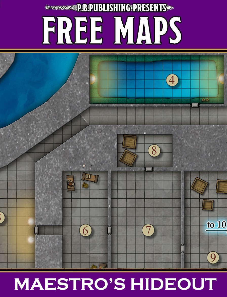 P B  Publishing Presents: FREE MAPS 8 - Maestro's Hideout