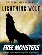 P.B. Publishing Presents: FREE 5E Monsters 1 - Lightning Wolf