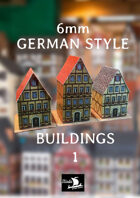 6mm GERMAN STYLE BUILDINGS  1