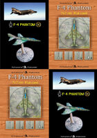 F-4 PHANTOM flat counter&paper miniatures [BUNDLE]