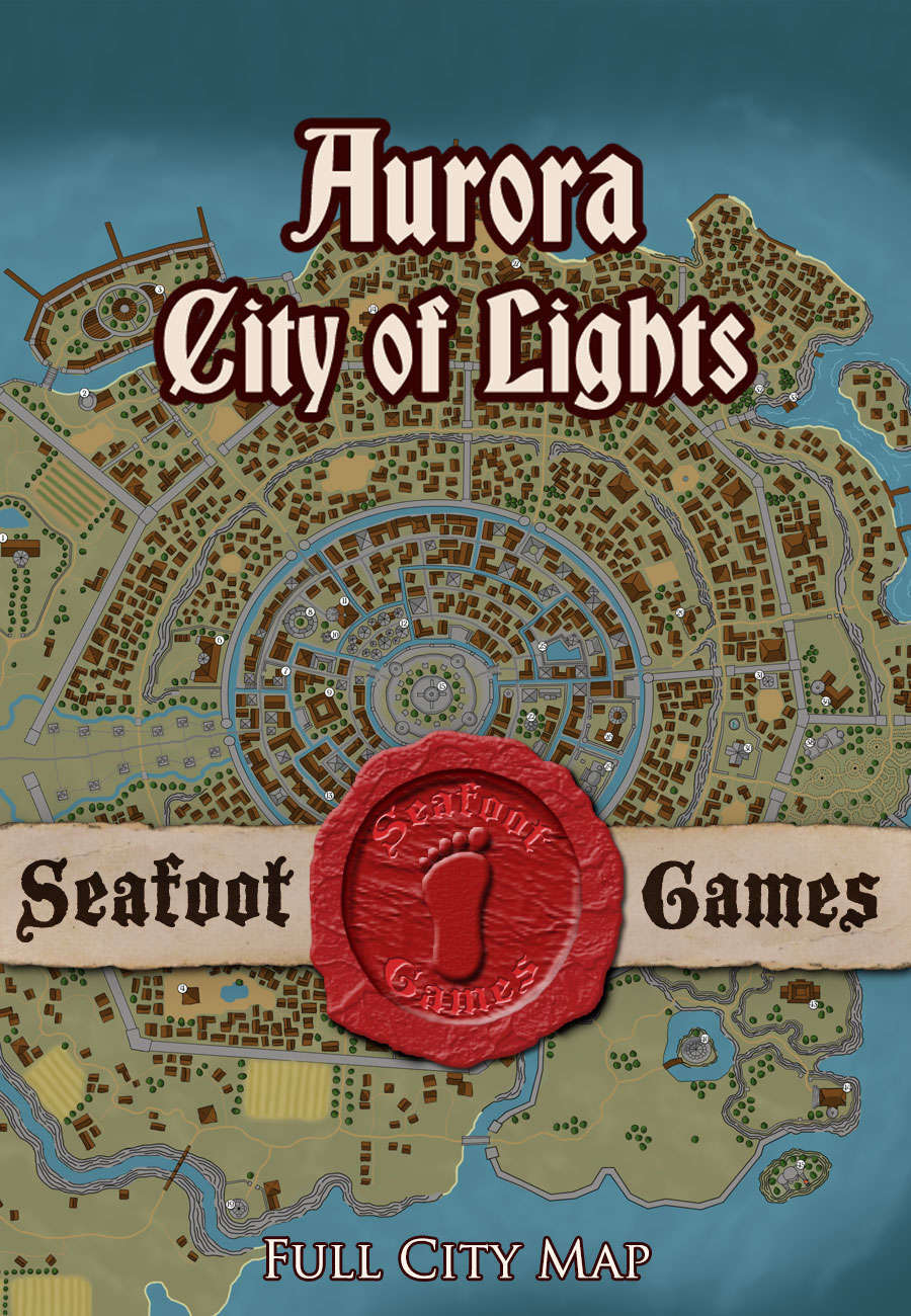 Seafoot Games - Aurora, City of Lights (Full City Map)