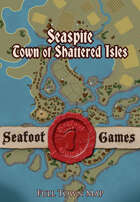Seaspite, town of shattered islands, full town map.