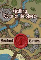 Gedling, town on the shores, 60x60 town and battle map.