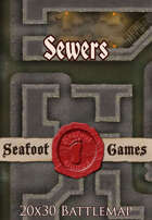 Seafoot Games - Sewers (20x30 Battlemap)