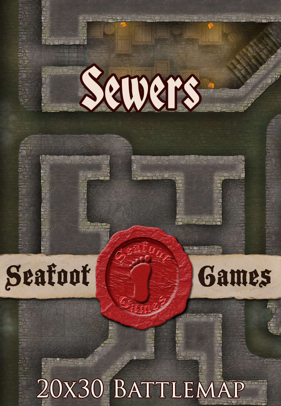 Seafoot Games - Sewers (20x30 Battlemap)