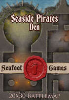 Seafoot Games - Seaside Pirates Den (20x30 Battlemap)