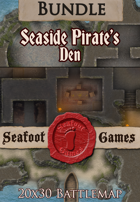 Seafoot Games - Seaside Pirates Den (20x30 Battlemap) [BUNDLE]