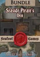 Seafoot Games - Seaside Pirates Den (20x30 Battlemap) [BUNDLE]