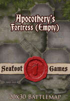 Seafoot Games - Apocothery's Fortress, Empty (20x30 Battlemap)
