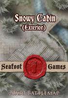 Seafoot Games - Snowy Cabin (Exterior) | 20x30 Battlemap