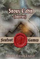 Seafoot Games - Snowy Cabin (Interior) | 20x30 Battlemap