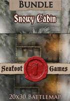 Seafoot Games - Snowy Cabin (20x30 Battlemap) [BUNDLE]