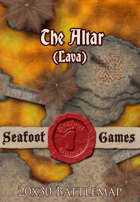 Seafoot Games - The Altar (Lava) | 20x30 Battlemap