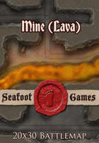 Seafoot Games - Mine (Lava) | 20x30 Battlemap