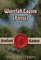 Seafoot Games - Waterfall Lagoon (Forest) | 20x30 Battlemap