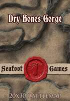 Seafoot Games - Dry Bones Gorge | 20x30 Battlemap