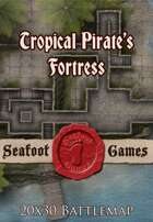 Seafoot Games - Tropical Pirate's Fortress | 20x30 Battlemap