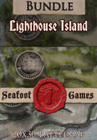 Seafoot Games - Island Lighthouse | 20x30 Battlemap [BUNDLE]