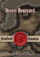 Seafoot Games - Desert Boneyard | 20x30 Battlemap
