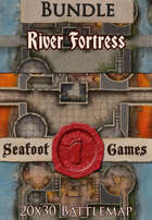 Seafoot Games - River Fortress | 20x30 Battlemap [BUNDLE]