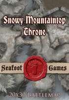Seafoot Games - Snowy Mountaintop Throne | 20x30 Battlemap