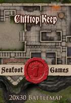 Seafoot Games - Clifftop Keep | 20x30 Battlemap