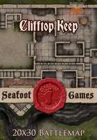 Seafoot Games - Clifftop Keep   20x30 Battlemap