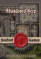 Seafoot Games - Abandoned Keep   20x30 Battlemap