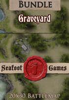 Seafoot Games - Graveyard | 20x30 Battlemap [BUNDLE]