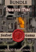 Seafoot Games - Dwarven Mine | 20x30 Battlemap [BUNDLE]
