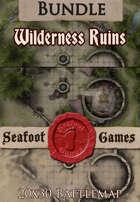 Seafoot Games - Wilderness ruins | 20x30 Battlemap [BUNDLE]