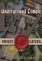 Seafoot Games - Underground Temple | 20x30 Battlemap