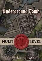 Seafoot Games - Underground Tomb | 20x30 Battlemap