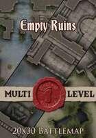 Seafoot Games - Empty Ruins | 20x30 Battlemap
