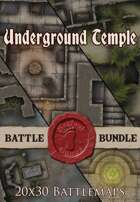 Seafoot Games - Underground Temple | 20x30 Battlemap [BUNDLE]