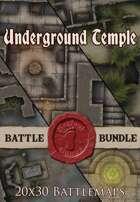 Seafoot Games - Underground Temple | 20x30 Battlemap [BUNDLE]