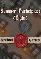 Seafoot Games - Summer Marketplace (Night) | 20x30 Battlemap