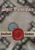 Seafoot Games - Winter Marketplace | 20x30 Battlemap