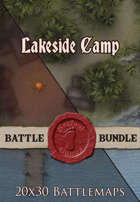 Seafoot Games - Lakeside Camp Night | 20x30 Battlemap [BUNDLE]