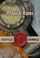 Seafoot Games - Magical Ruins | 20x30 Battlemap [BUNDLE]