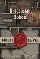 Seafoot Games - Dragonsfall Saloon | 20x30 Battlemap