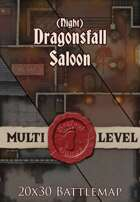 Seafoot Games - Dragonsfall Saloon | Night | 20x30 Battlemap