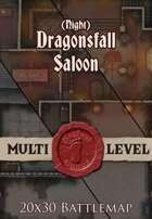 Seafoot Games - Dragonsfall Saloon | Night | 20x30 Battlemap