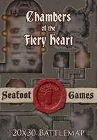 Seafoot Games - Chambers of the Fiery Heart | 20x30 Battlemap