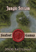 Seafoot Games - Jungle Stream | 20x30 Battlemap